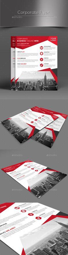 Corporate Flyer Template PSD #design Download: http://graphicriver.net/item/corporate-flyer/13004215?ref=ksioks