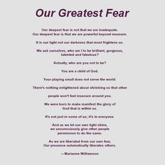 Our Greatest Fear & Why I am a Quitter