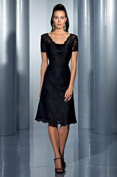 Isabel de Mestre - Evenings Abendkleider Kollektion 2015 (Art.14E 035): Kurzes Abendkleid in Schwarz.