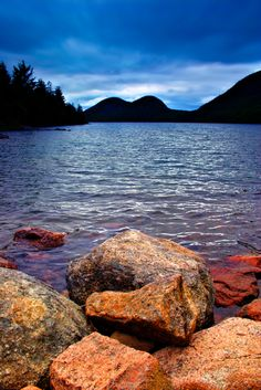 Jordan Pond in Acadia National Park... Can't wait to go in August!!!!!!!!!!!!!