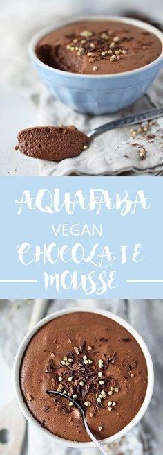 Aquafaba Chocolate mousse - 3 ingredients, vegan and glutenfree ...repinned für Gewinner! - jetzt gratis Erfolgsratgeber sichern www.ratsucher.de