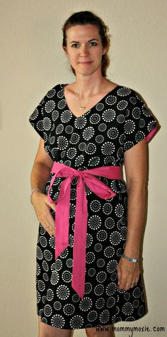 Lincoln Maternity Birthing Gown in White Polka Dot by MommyMoxie, $63.00