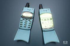 ¿Cómo se verían los celulares viejos con Android o Windows Phone?