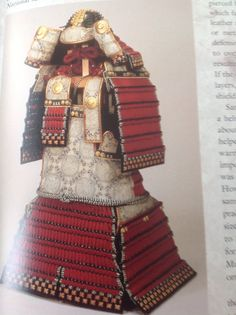 Heian period armor laced with red braid. From samurai an illustrated history