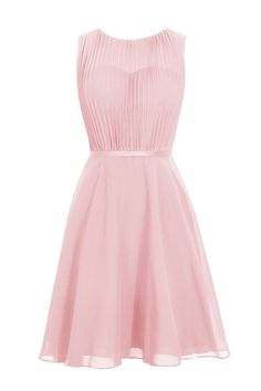 Simple A-line Jewel Knee Length Chiffon Homecoming Dress With Sash