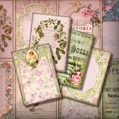 Pink Me ATC Digital Collage Sheet ACEO Backgrounds 2.5 x 3.5 Vintage Digital Collage Victorian Frames Ads Book PlatesTags 233. $3.25, via Etsy.