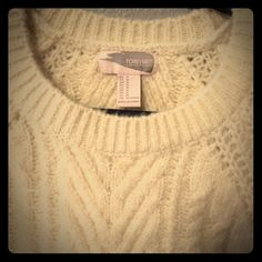 🎉Host Pick 12/28🎉🎉Cable Knit Thick and cozy cream cable knit sweater!  Classic item that will never go out of style.  Never worn!  Firm. New with tags. Forever 21 Sweaters