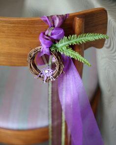 Elegant Easter Chair Wreaths