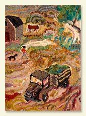 old truck farm scene