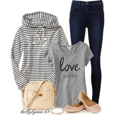 A fashion look from October 2013 featuring Old Navy hoodies, Old Navy t-shirts and J Brand jeans. Browse and shop related looks.