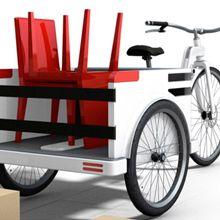 """A agência de arquitetura naco architecture desenvolveu """"O Triciclo"""" - um transportador de entrega, que oferece uma alternativa para a mobilidade urbana."""