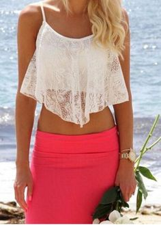 New Womens Ladies Summer Sleeveless Coral Pink Strappy Cut Out Bralet Crop Top