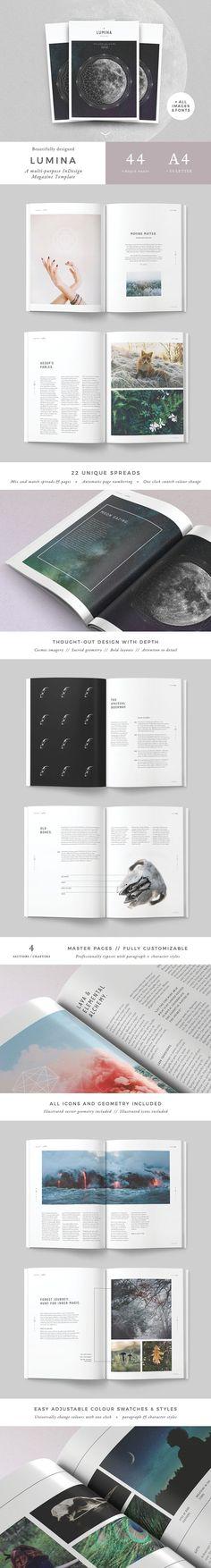 LUMINA Magazine - Magazines #template #simple