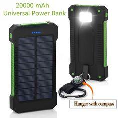 Rational 5000 Mah Dual Usb Portable Solar Charger Battery Universal Rain-resistant Power Bank Cellphones & Telecommunications