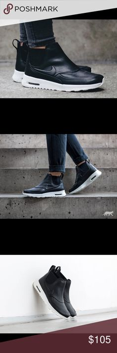 Nike Air Max Thea Mid (Black) Size 7 - newly released in Nov. 2016. It's a cross between a Chelsea Boot and an Air Max = athleisure at its best Nike Shoes Sneakers