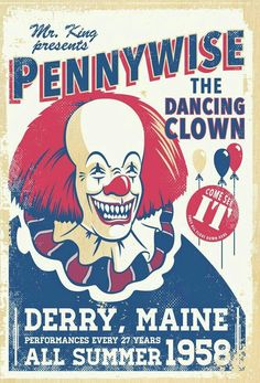 PENNYWISE THE DANCING CLOWN POSTER ART.