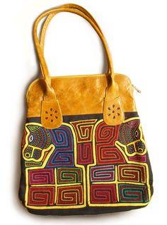 Big Yellow Mola Bag