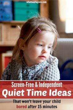 We are transitioning out of nap time for my preschooler and into quiet time, so I LOVE these screen free quiet time ideas! Plus, they encourage independent play, which means quiet time can actually last longer than 15 minutes!