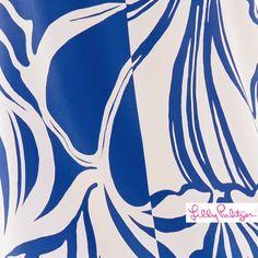 Lilly Pulitzer Iris Blue Windsurfer Engineered Top
