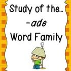 This unit provides plenty of fun, learning centered around the -ade word family! Students will have plenty of practice learning new words, writing ... #teachers #tpt