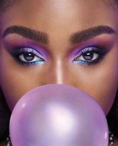 Purple Eyeshadow Looks, Purple Makeup Looks, Purple Eye Makeup, Makeup Eye Looks, Colorful Eye Makeup, Eye Makeup Art, Beautiful Eye Makeup, Pop Of Color Eyeshadow, Metallic Eye Makeup