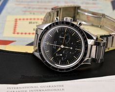 JUST IN: Omega Speedmaster CK 2998-5 Pre-Moon Pre-Professional in Steel. Accompanied by ORIGINAL warranty card!