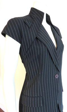 Vintage and Designer Suits, Outfits and Ensembles - For Sale at Alexander Mcqueen Couture, Fashion Details, Fashion Design, Skirt Suit, Suit Vest, Givenchy, Ideias Fashion, Cool Outfits, Fashion Dresses