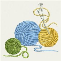 Balls Of Yarn embroidery design