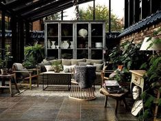 Arredare la veranda in stile scandinavo - Arredi dai materiali naturali