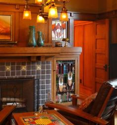 The Arts and Crafts Fireplace . . . A Finely Crafted Fire Space