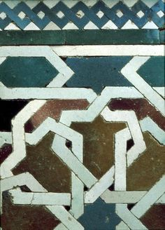 Tiles in the Alhambra, Granada, Spain. http://www.costatropicalevents.com/en/costa-tropical-events/andalusia/cities/granada.html