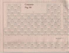 Mussambe: Cropped + Saia em Crochê c/ gráficos!!!