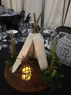 Pocahontas themed wedding table arrangement created by Florist ilene  http://www.floristilene.co.nz/