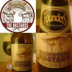 Backwood Bastard 2014 from Founder's.  Lovley taste. Lot of plums  #backwoodbastard #backwood #founders #2014 #loveinabottle #beer  #biere #americanbeer #usa
