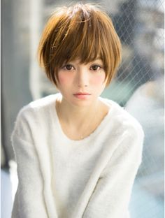 8 Hairstyles to look like a Japanese girl_Short haircut Girls Short Haircuts, Haircuts For Long Hair, Short Hairstyles For Women, Hairstyles With Bangs, Girl Short Hair, Short Hair Cuts, Short Hair Styles, Japanese Haircut, Pelo Pixie