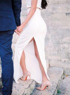Perfect Engagement Outfit Inspiration in Paris by Le Secret d'Audrey   Wedding Sparrow