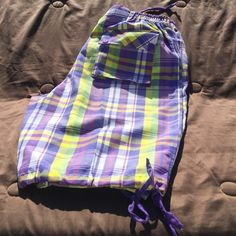 Plaid shorts must Go!!!!!!!!! NWOT  Actual color in 3rd photo 100% polyester Pants