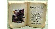 #tosimplyshop Ceramic Book Eagle Verse Isaiah 40:31 #gifts #homedecor #gardendecor #decor #home #garden #shopping