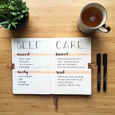 Bullet journal self care planner. | @hollylovesplanning