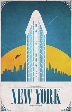 Posters towns superhero