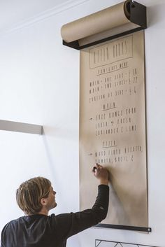Ideas / Wall mounted kraft paper roll display Studio Roller by George and Willy - www.homeworlddesign. com (1)