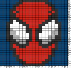 Crochet Blankets For Men Tricksy Knitter Charts: Spider Man - Visit to grab an amazing super hero shirt now on sale! Graph Crochet, C2c Crochet, Crochet Pillow, Tapestry Crochet, Crochet Blanket Patterns, Cross Stitch Patterns, Pixel Crochet Blanket, Crochet Blankets, Knitting Charts