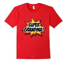 Men's SUPER GRANDMA T-Shirt Funny Superhero Grandpa Gift Tee