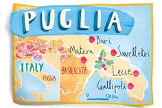 An illustrated map of Puglia..love