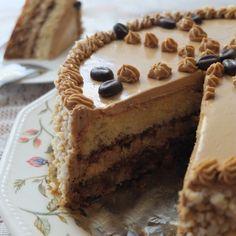 Gateau Moka (coffee buttercream genoise sponge)