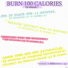 Burn calories while listening to music