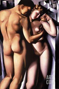Adam and Eve Giclee Print by Tamara de Lempicka at Art.com