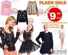 Super slim price flash sale!  Only 7 days! The Greatest Hits Collection!  $9.99 up! Comment under the product, and get a chance to win a free one. Already started! Don't miss, girls!  ----------------------- Super Promoção #Romwe - 7 dias com preços a partir de $9,99 Válido para os itens da Coleção Greatest Hits!  Ah! E se você comentar qualquer item, terá a chance de ganha-lo.