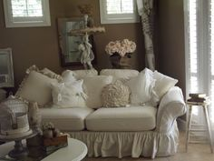 Shabby Chic Sofa Pillows | Found on vintagesoul1020.typepad.com