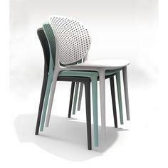 Muut Dark Grey Modern Stackable Side Chair (Set of 4) - Walmart.com - Walmart.com Rustic Dining Table Set, Outdoor Dining Chairs, Dining Chair Set, Dining Room, Restaurant Furniture, Design Lab, Industrial Furniture, All Modern, Side Chairs
